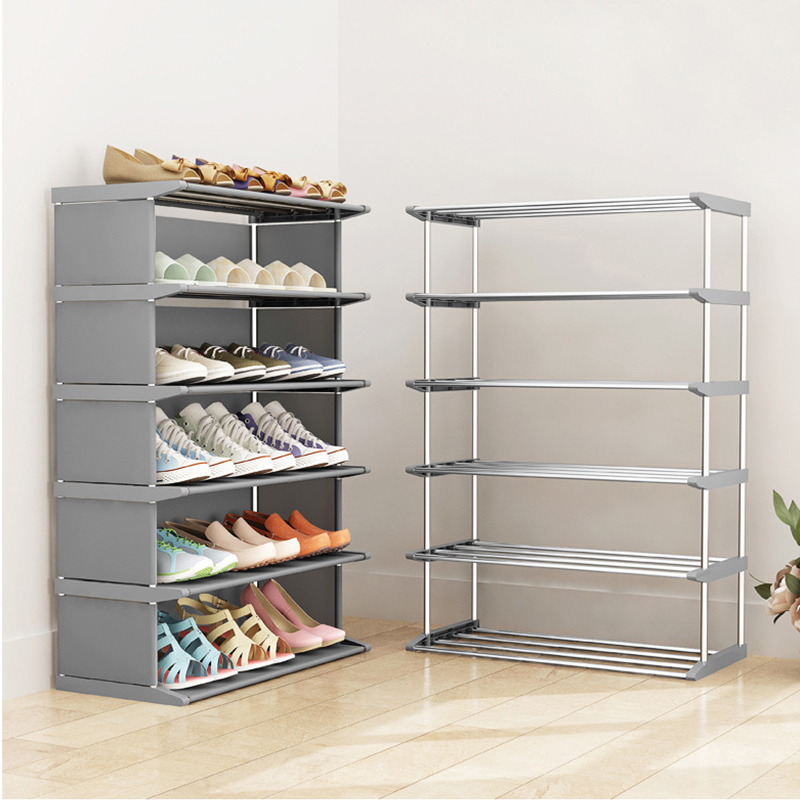 Multilayer Shoe Rack Dustproof Shoes Storage Shelf Easy To Asselmble  Saving Space Standing Organizer Holder Home Shoe Cabinet