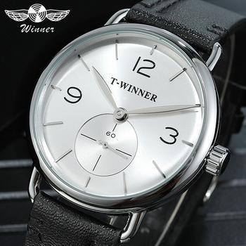 Zwycięzca nowy mody biały mechaniczne zegarki 2019 męska mechaniczne zegarki na rękę Top marka luksusowe skórzana Sub projekt tarczy zegarka tanie i dobre opinie GESITO 3Bar CN (pochodzenie) Klamra Moda casual Mechaniczna Ręka Wiatr 23cm STAINLESS STEEL Odporne na wodę W8166 ROUND
