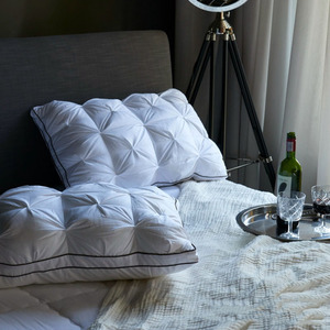 Image 3 - Down Feather Pillow Super soft White Duck/Goose Neck pillow Standard Antibacterial Elegant Home Textile Cotton Bedding Pillow