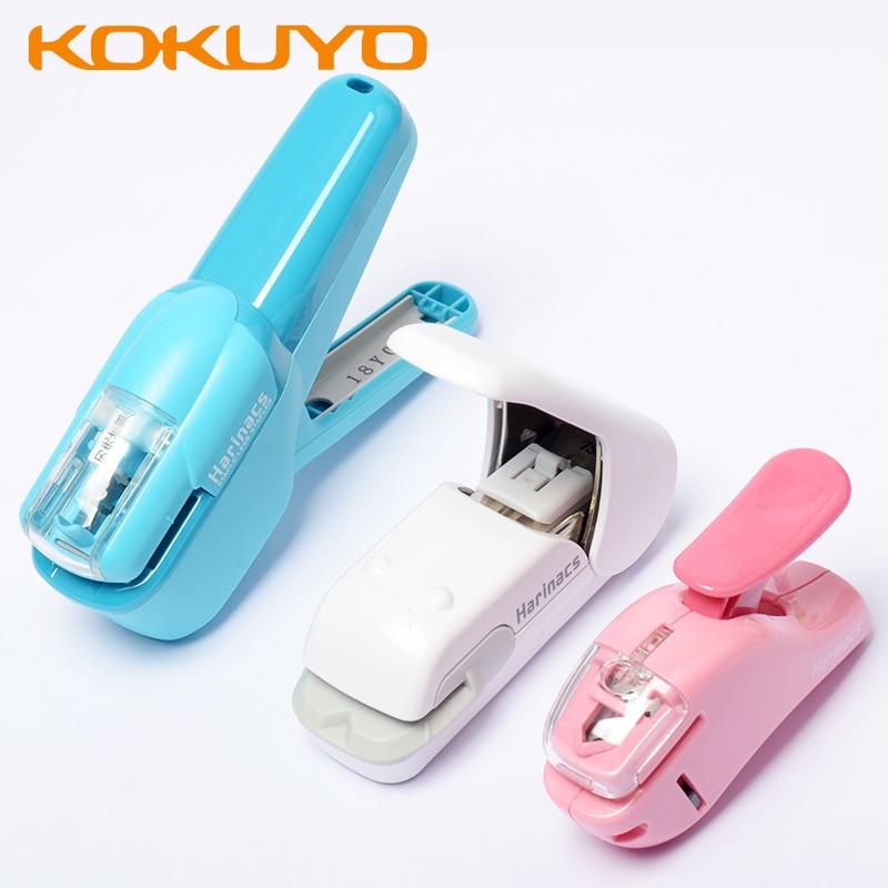 1pcs KOKUYO Harinacs Needle-free Stapler Embossed Air Stapler Handheld Student Office Office Energy-saving Stapled 5/10 Sheets