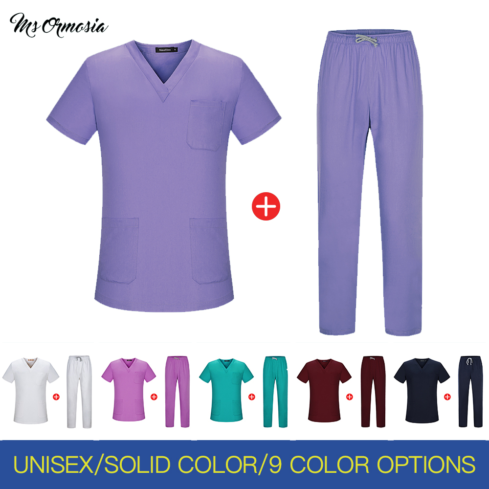 Men Scrub Tops Doctor Nurse Uniform Homme Hospital Surgical Jacket Doctors Medical Lab Coat Workwear Wholesale Quality Outfit