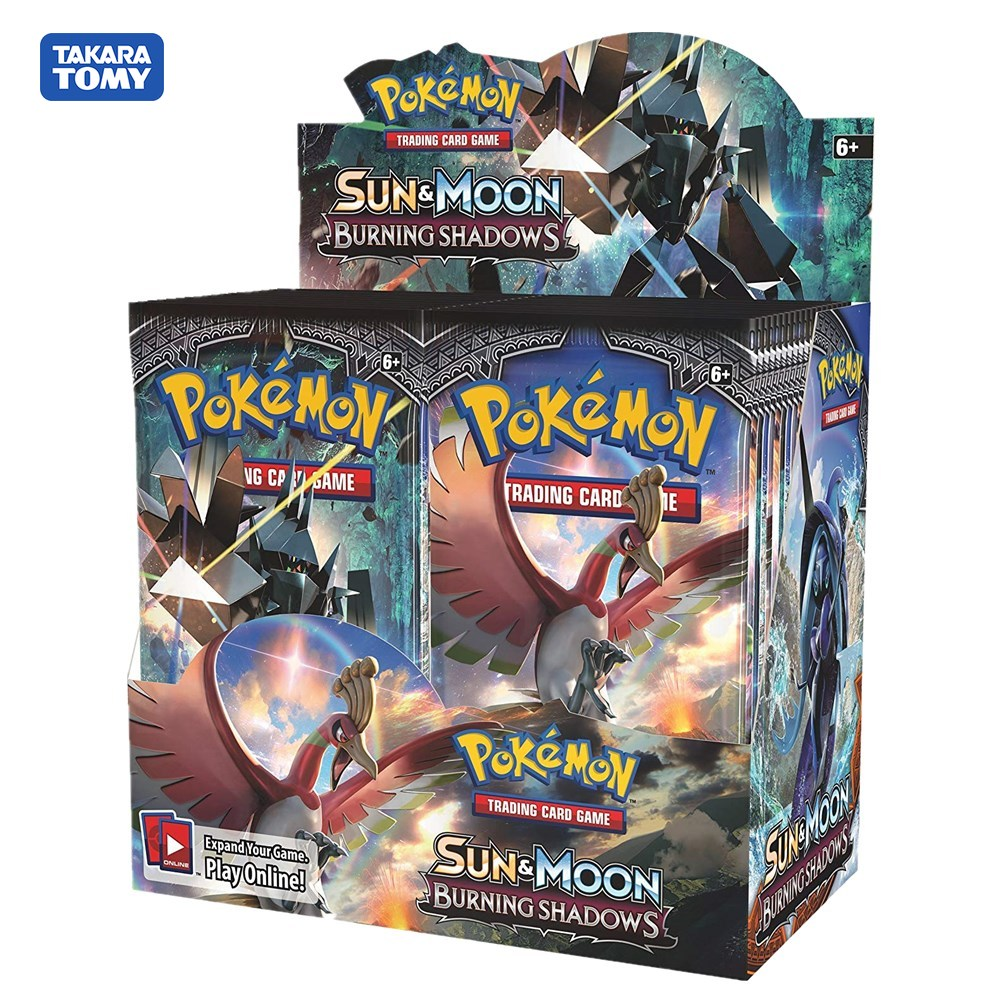 324Pcs Pokemon TCG: Sun & Moon Burning Shadows Sealed Booster Box Trading Card Game Set
