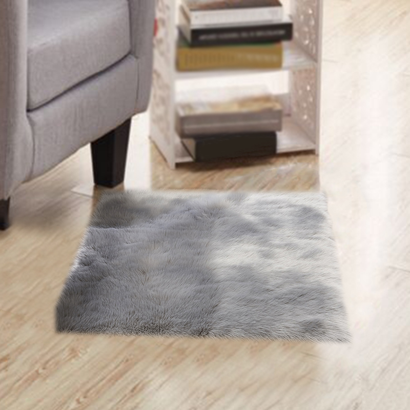 Faux Fur Blanket Furry Floor Blanket Baby Crawling Cushion Play Mat Rugs Carpets Area Rugs Hot US 60x60cm|Rug| |  - title=