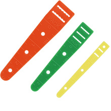 3Pcs set Elastic Glides Guides Threaders Wear Elastic Band Tool Band Rope Wearing DIY Clothing Sewing Accessories cheap wsryxxsc Ruler Knitting Plastic