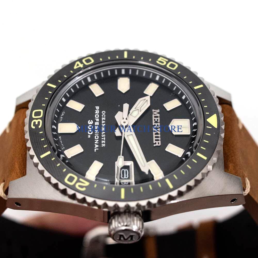 MERKUR Vintage 62MAS automatique montre-bracelet hommes pro Divers saphir céramique 300M tortue thon peut plongeur militaire Sport