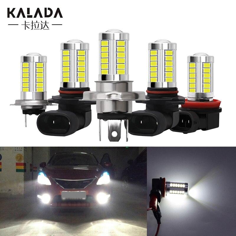 1X Bright H4 H7 H8 H11 9005 9006 Fog Light 6000k White Canbus Universal Auto Foglight For Motorcycle Headlight Fog Lamp 12V Bulb