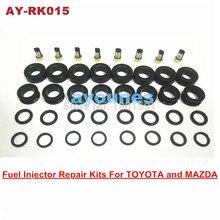 Gratis Verzending Fuel Injector Reparatie Kits Rubber Afdichtingen Kits Voor Oem 195500 3030 1955003290 Injector Voor AY RK015