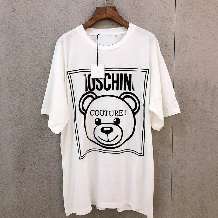 Teddy bear T shirt men's and women's clothing T shirt printing letter T shirt casual white black short sleeved cotton oversized|T-Shirts| - AliExpress