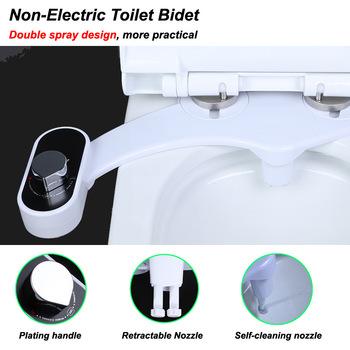 Smart toaleta Cover Unplugged Body Bidet ciepła i zimna woda Bidet pośladki łatwa instalacja podwójne dysze tanie i dobre opinie Poziome CN (pochodzenie) Pojedynczy otwór 136-200mm Solid color Water temperature adjustment buttocks washing women washing water p