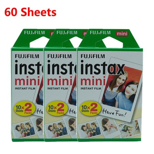 Оригинальная пленка Fujifilm Instax Mini 10 20 40 50 60 листов для камеры моментальной печати FUJI Mini 11 9 8 7s 70 90 25, пленка для камеры, новинка, Лидер продаж