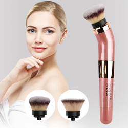 Foundation Blush Battery Powered Synthetic Fiber Multifunctional Powder Blending Easy Use 360 Degrees Electric Makeup Brush