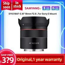 Samyang SYIO18AF-E AF 18mm F 2,8 Weitwinkel auto Fokus Volle Rahmen Objektiv Auto objektiv Große blende für Sony E Montieren, schwarz