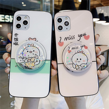Free shipping For OPPO R15 R17 R15x Quicksand Shell A5 A9 A11x Case RENO Z 2 3 Pro Ace Cartoon K3 K5 Mirror Tempered glass
