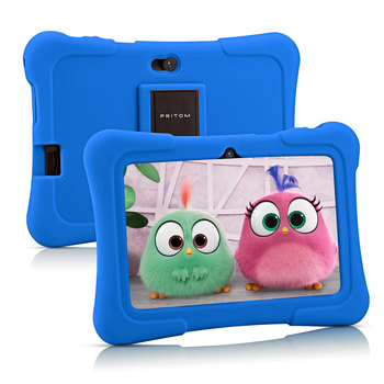 цена на PRITOM K7 7 inch Kids Tablet Android PC 1GB RAM 16GB ROM Quad Core Tablets WiFi Bluetooth Dual Camera with Kids Tablet Case