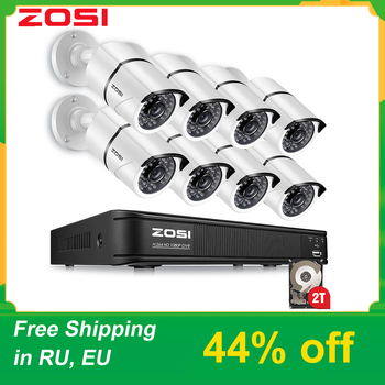 ZOSI 1080P 8ch street camcorder AHD TVI CVI CCTV System DVR videcam Outdoor Video Nightvision System Surveillance DVR Kit HDD - DISCOUNT ITEM  44 OFF Security & Protection
