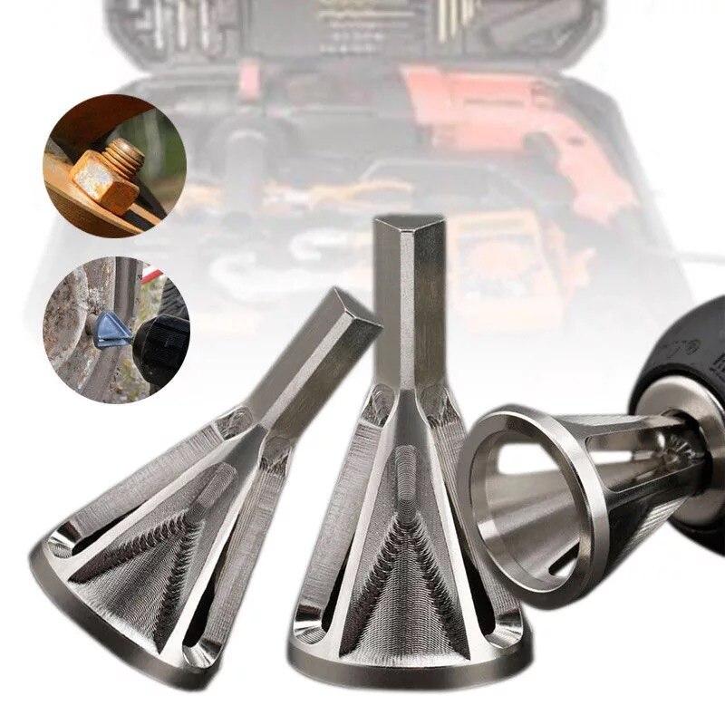 Citop 1 pçs inoxidável deburring externo chanfro broca triângulo hex haste remover rebarba para ferramenta de perfuração de metal