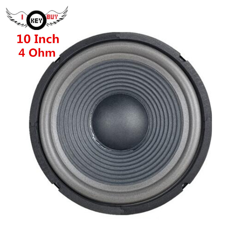 10 Inch Car Subwoofer 4 Ohm 255 Mm Foam Edge Threaded Paper Cone Basin Loudspeaker Bubble Side Bass Speaker Black