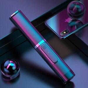 Image 1 - Drahtlose Bluetooth Selfie Stick Faltbare Mini Stativ Erweiterbar Einbeinstativ Mit Bluetooth Fernbedienung Für IOS Android Handys Stativ
