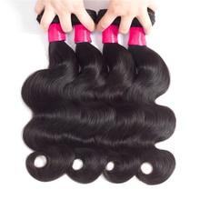 Hair-Weave Bundles Brazilian Long-28 4PCS Remy Natural-Black 30inch