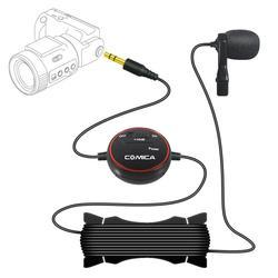 Comica CVM-V03 Lavalier Microphone Clip-on Mini Omnidirectional Condenser Mic Interview Microphone Recording Studio
