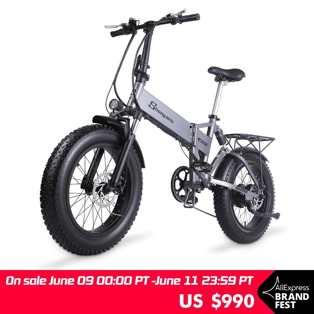 MX21-bicicletta-elettrica-pieghevole-500W4-0-Fat-Tire-uomo-Ebike-48v-Mountain-Bike-bicicletta-elettrica-Beach Offerte Bici Elettriche 2021: 11° Anniversario Aliexpress