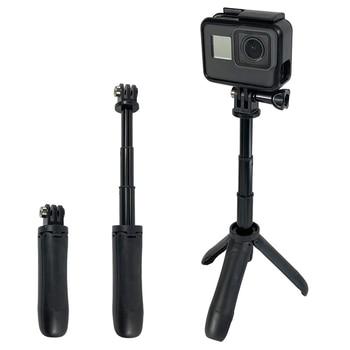 2019 New Handheld Mini Tripod Mount Selfie Stick Extendable Monopod for Gopro Hero 8 7 6 4 SJCAM Xiaomi YI 4k Go Pro Sports Cam