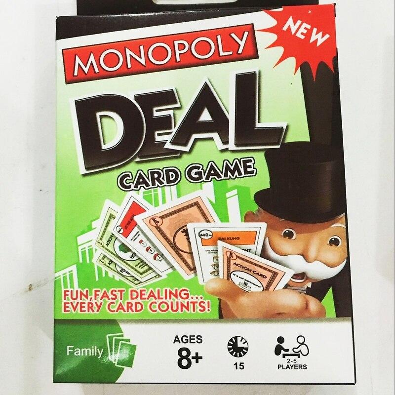 Habro jeu monopole DEAL carte jeu plateau Table jouets pour enfants