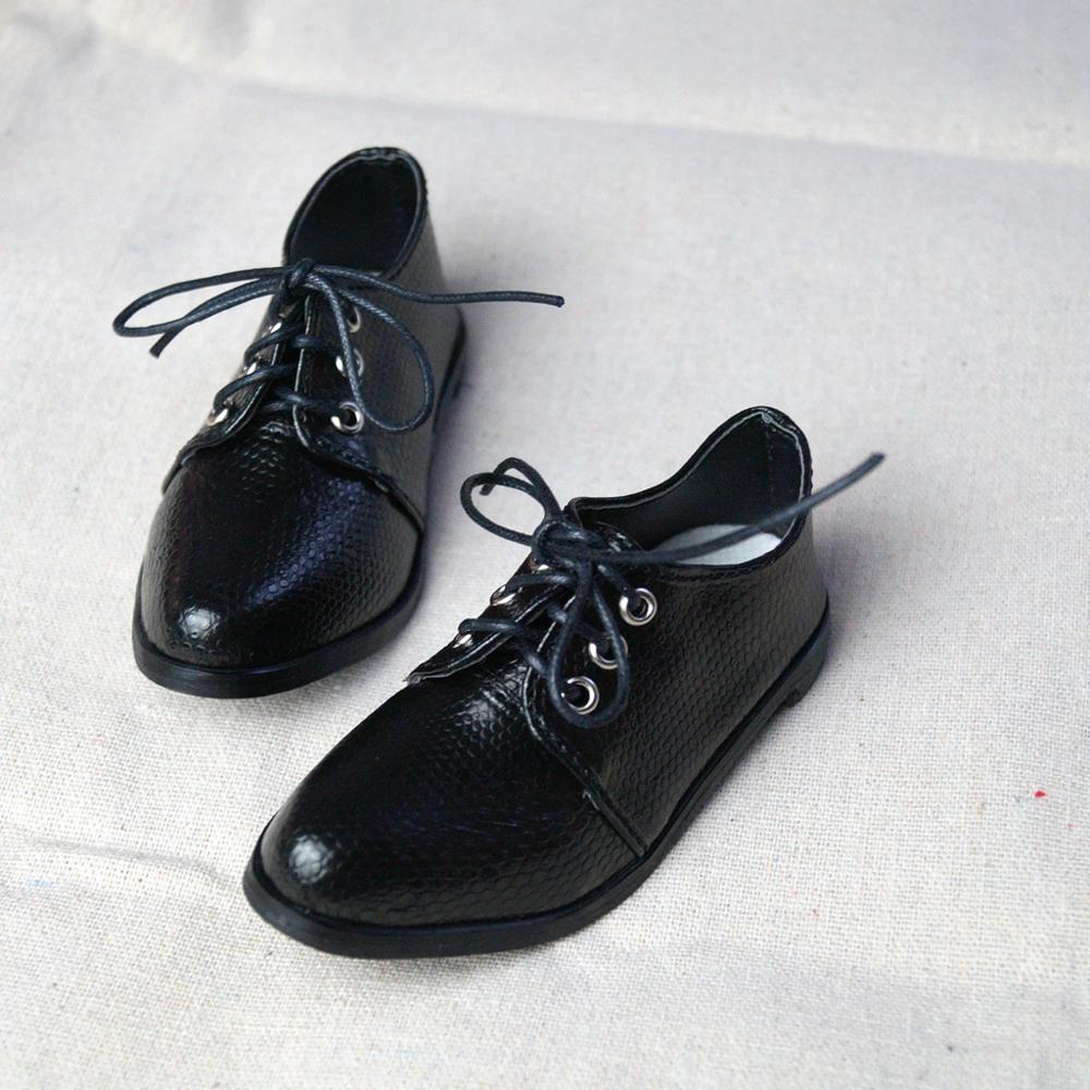 BJD Black Bussiness Shoes Flats Synthetic Leather For 70cm+  Tall Strong Uncle Male BJD SOOM EID DK DD Doll Free Shipping