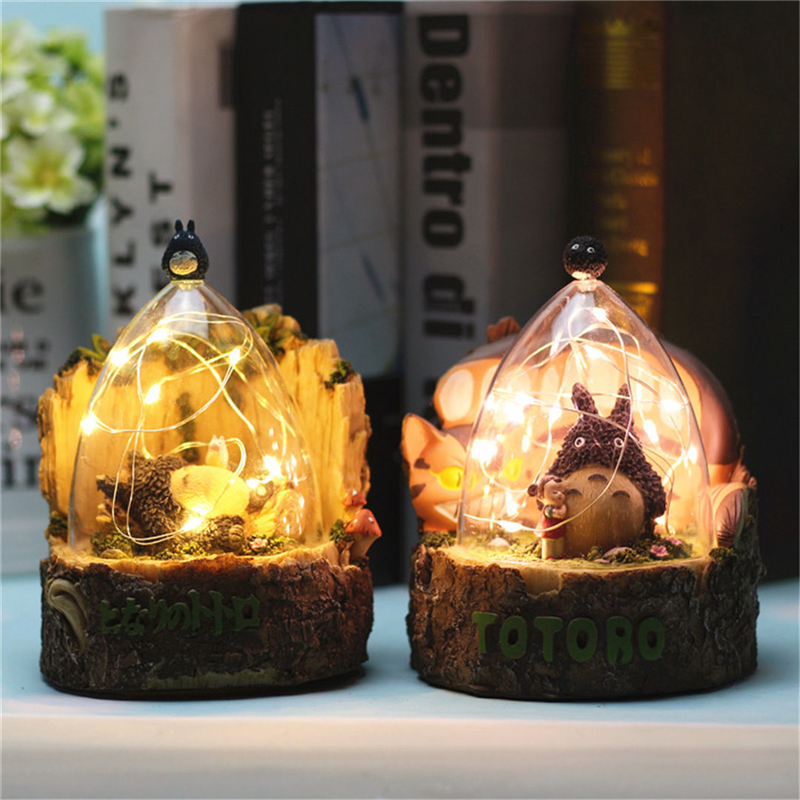 Cute CAT Night Light With Star Light Night Lamp For Home Bedroom Bedside Decoration Light Creative Gift For Kid Totoro Lovers