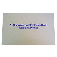 Листы для переноса шоколада A4 пустая рисовая бумага для торта для пищевых принтов на шоколадные съедобные чернила для печати оптом прессформы 10 листов/лот