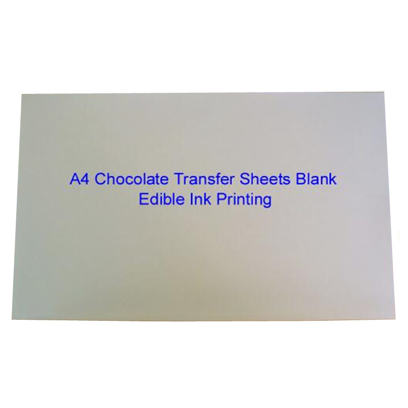 Chocolate Transfer Sheets A4 Blank Cake Rice Paper For Food Prints Onto Chocolate Edible Ink Printing Wholesale Mold 10Sheet/lot