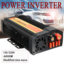 Dual USB Max 12000 Watts 6000W Power Inverter DC 12 V to AC 220 Volt Car Adapter Charge Converter Modified Sine Wave Transformer