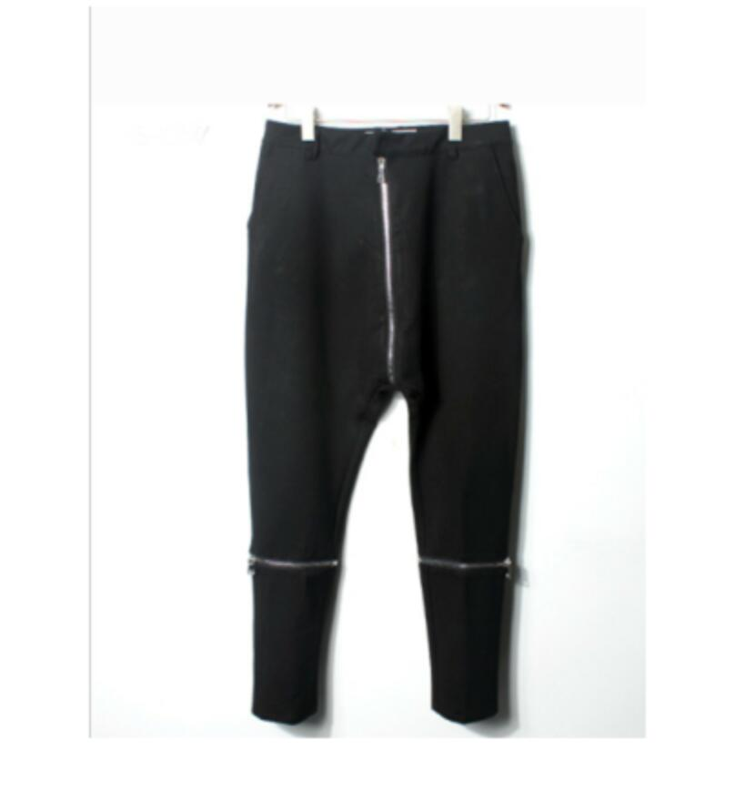 Harem Pants Clothing Straddle Low-Crotch GD Men's Plus-Size Casual New Costumes Hair-Stylist
