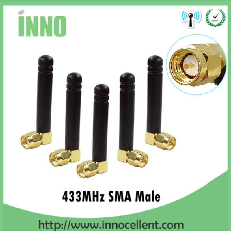 5pcs 433MHz Antenna 2dBi SMA Male Connector 433 MHz Antena Small Size Antenne Directional 433m Antennas Wireless Repeater