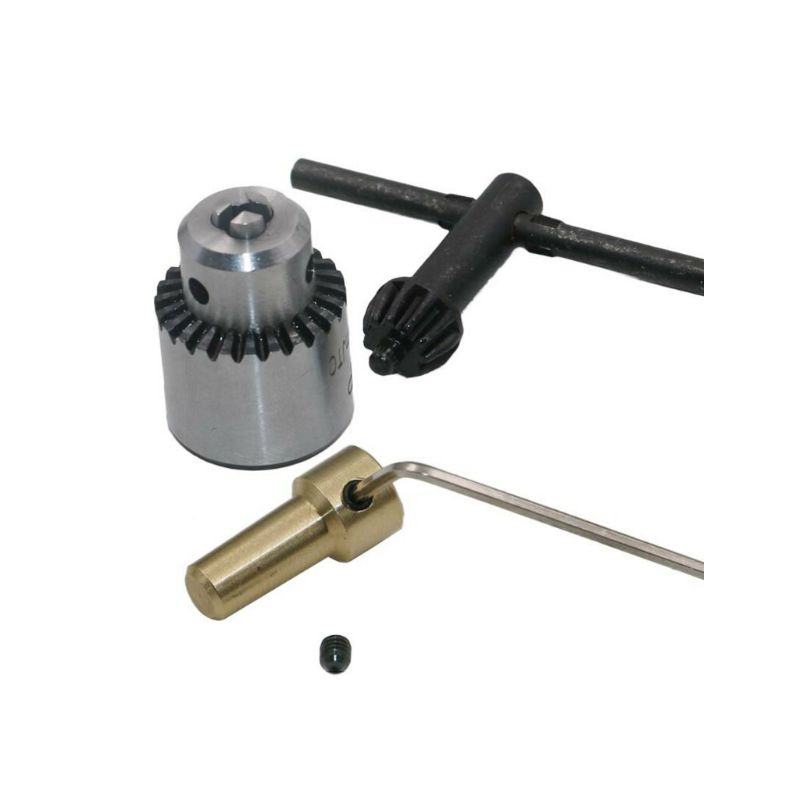 Micro Drill Chucks Motor Jaw Clamping 0.3-4mm Cone Mounted Spindle 3.17mm Shaft
