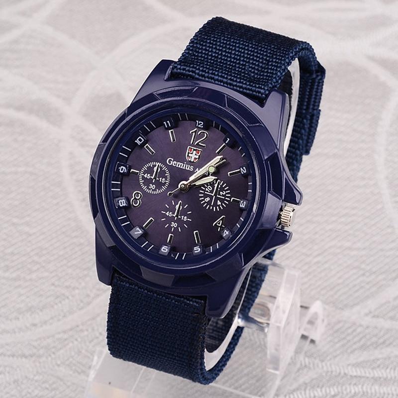 Gemius Army Watch Men Sports Watches Nylon Band Military Army Watches Men Quartz Wristwatch Mannen Horloge Reloj Hombre Hodinky