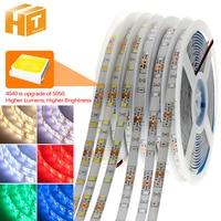 Tira de luces LED Flexible, 4040, actualización de 5050, DC12V, 60LED/m, 6W/m, RGB 5050, 300LED, 5 m/lote, novedad