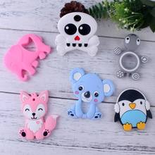 XCQGH 1PCS Baby Silicone Teether Cute Animal Teethers Koala Elephant Tortoise Infant Toddler Chew Charms Pendant(China)