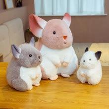 25 ~ 65cm Entzückende Hamster Gefüllte Puppe Grau Weiß Rosa Langen Ohren Hase Wie Echte Plüsch Spielzeug Für Kinder weihnachten Geschenk