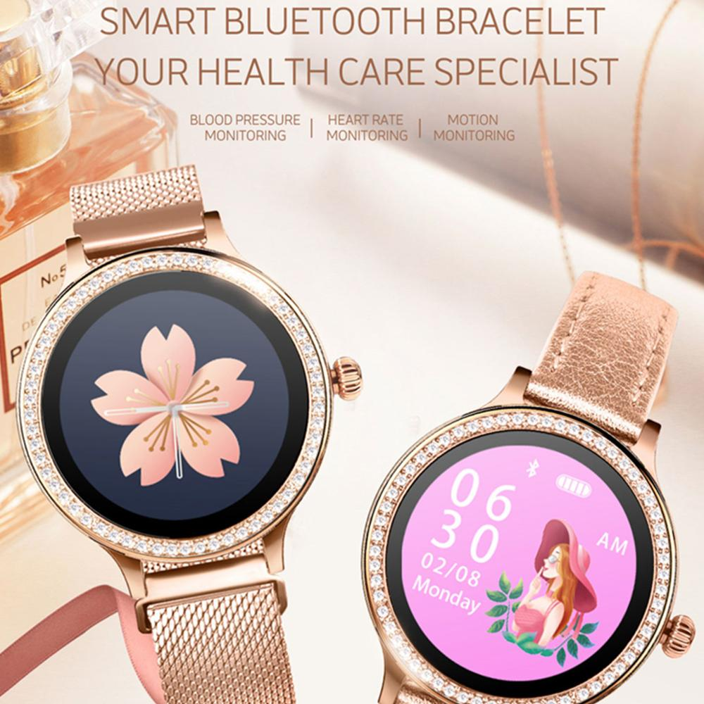 <font><b>M8</b></font> <font><b>smart</b></font> <font><b>watch</b></font> women gold Milanese <font><b>smart</b></font> bracelet Activity fitness tracker electronics wristwatch heart rate blood pressure image