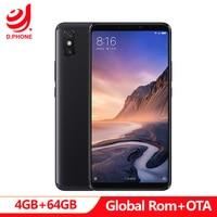 5500mAh 6.9 inch Global Rom Xiaomi Mi Max 3 4GB RAM 64GB ROM Snapdragon 636 Octa Core 12MP+5MP Camera Max3 Mobile phone