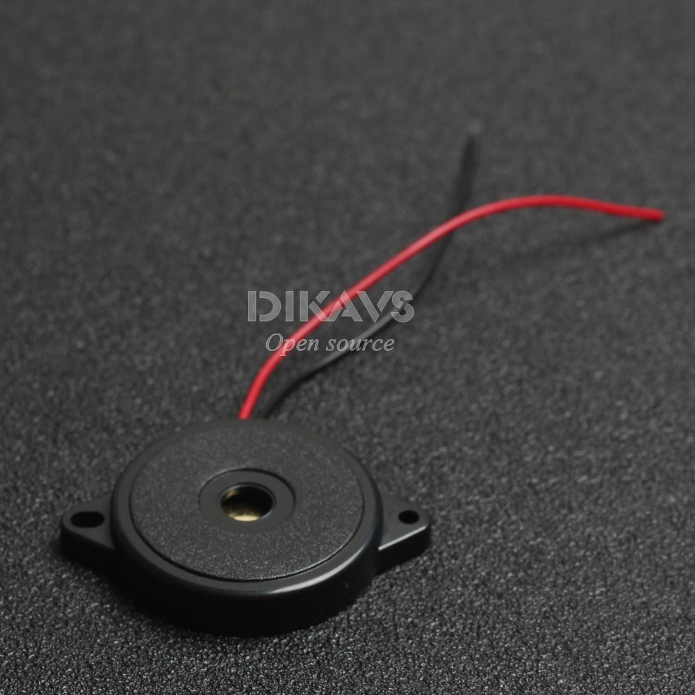 Enclosed Piezo Buzzer  Element W/Wires (1 Pieces)