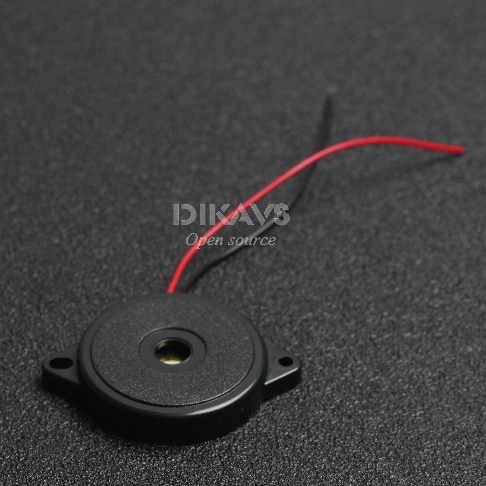 Fechado piezo buzzer elemento com fios (1 peças)