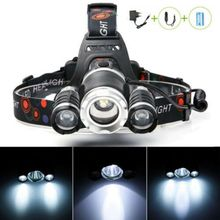 20000lums LED Headlight AC 100-240V Zoom Led Headlamp Torch Flashlight Head Lamp with 18650 Battery for Outdoor Lighting Gift 20000lums led headlight xml v6 l2 t6 zoom led headlamp torch flashlight head lamp use 2 18650 battery for bicycle light get gift