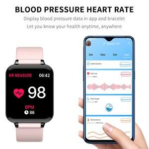 Image 3 - Bluetooth Smartwatch Sport Watch B57 Wrist Watch Blood Pressure Watch For Men Women Waterproof Watches Pedometer Smart Wristband