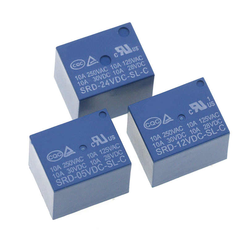 Relais SRD-05VDC-SL-C SRD-12VDC-SL-C SRD-24VDC-SL-C SRD-48VDC-SL-C 5 Pin Dc 5V 12V 24V 48V 10A 250VAC 5PIN Power relais
