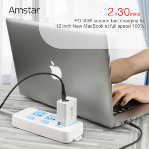 Image 3 - Amstar 48W Quick Charge QC4.0 3.0 USB C Fast Charger for iPhone 11 Pro XS Samsung 10 Huawei 30W PD Charger Type C Travel Adapter