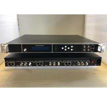 16-frequency point modulator IP / ASI to RF DVB-T / C / ATSC / ISDB / DTMB Hotel and hotel cable TV front-end equipment