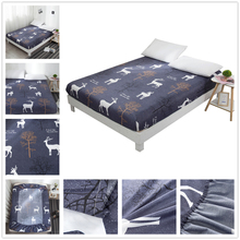Kids Cartoon Bed Sheet Bear Printed Fitted Sheet Queen Size Mattress Cover Single Anti-bacterial Bed Sheet with Elastic Band