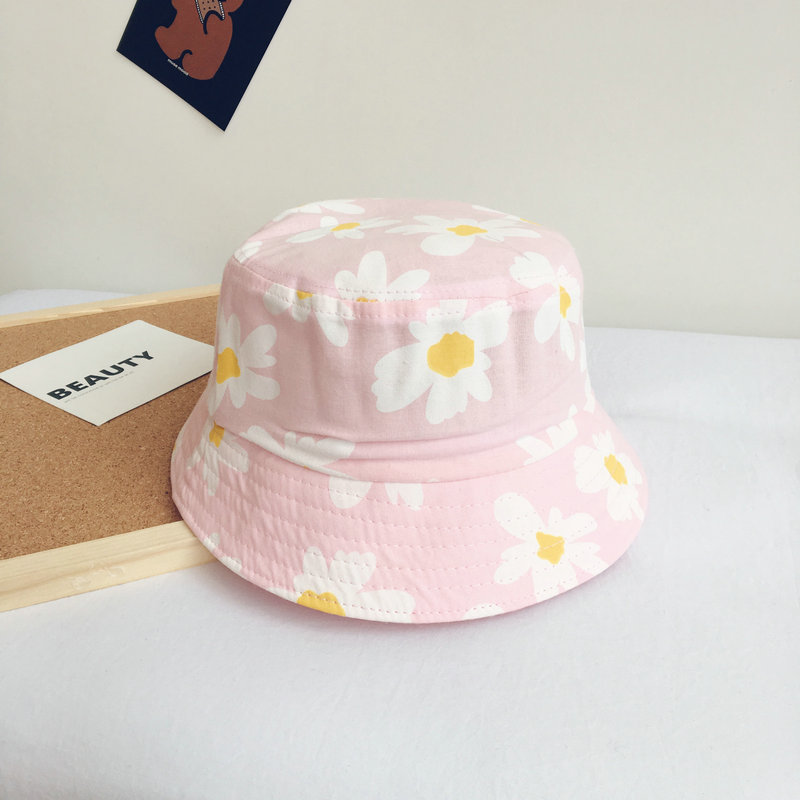 2020 New Style Flower Print Bucket Hat Fisherman Hat Outdoor Travel Hat Sun Cap Hats For Children Boys And Girls 48